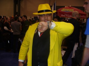 I can't miss, not with my Dick Tracy hat!