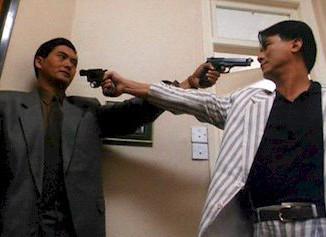 A John Woo handshake.