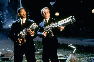 Scene from Men in Black. Will Smith and Tommy Lee Jones