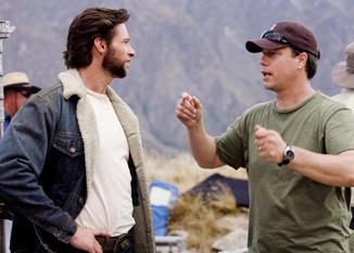 Hugh Jackman and director Gavin Hood on the set of X-MEN ORIGINS: WOLVERINE.