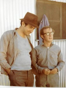Mickey Rose and Woody Allen on location in San Fransisco for TAKE THE MONEY AND RUN