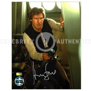 1320-Harrison-Ford-Autographed-Han-Solo-Star-Wars-Action-Photo-MED-4314