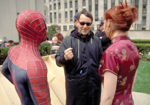 Spiderman - Sam Raimi directs Tobey Maguire and Kirsten Dunst