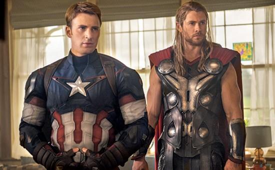 Avengers 2 Cap Thor in Suburbia