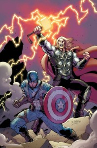 comic book cap and thor