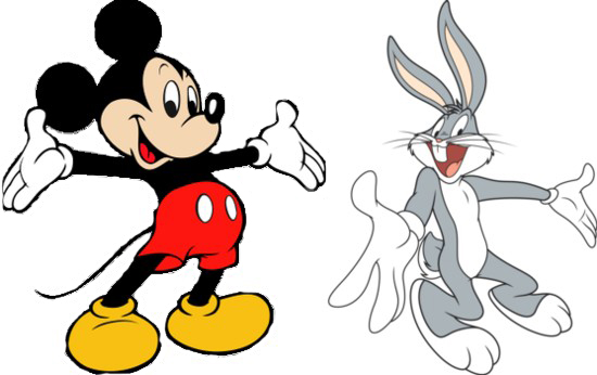 mickey and bugs