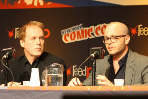 TOMORROWLAND director Brad Bird and co-writer Damon Lindelof.