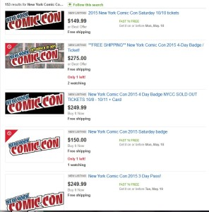 NYCC Tickets on eBay
