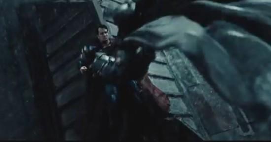 Batman Landing on Superman