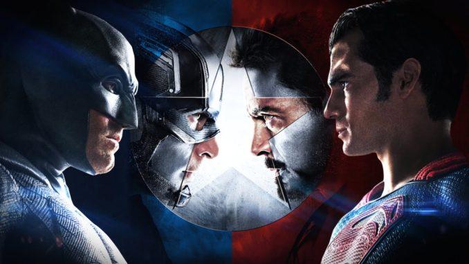 Captain America Civil War vs. Batman v. Superman stare down