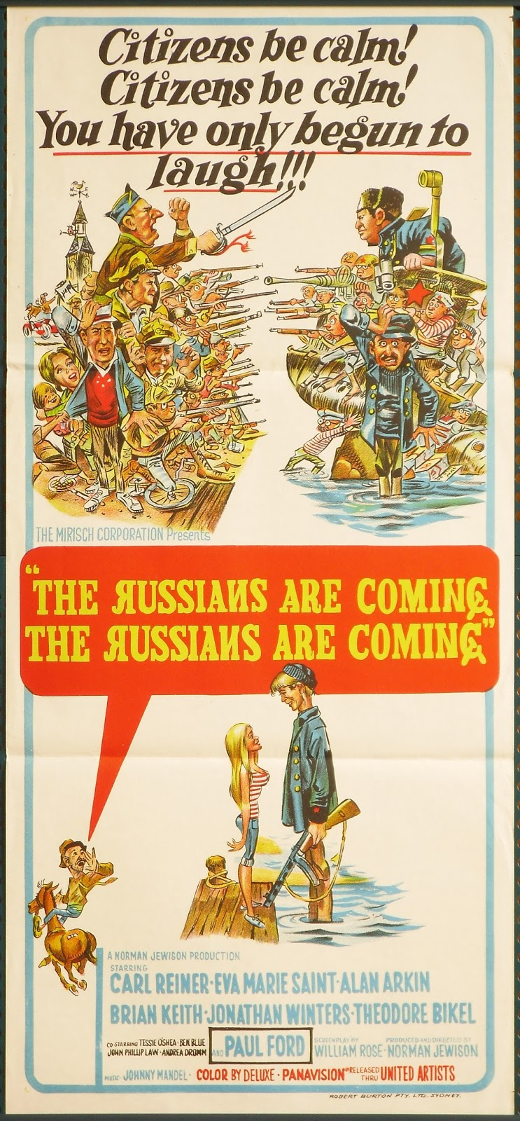 Jack Davis THE RUSSIANS ARE COMING THE RUSSIANS ARE COMING (1966) poster